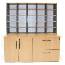 Aspect File & Store Station with Mail Sorter