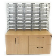 Silverstream File & Store Station with Mail Sorter