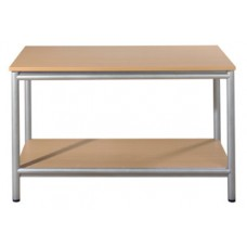 Open Bench with Shelf - Aspect Line