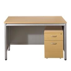 Desk With Lockable Pedestal - Aspect Line